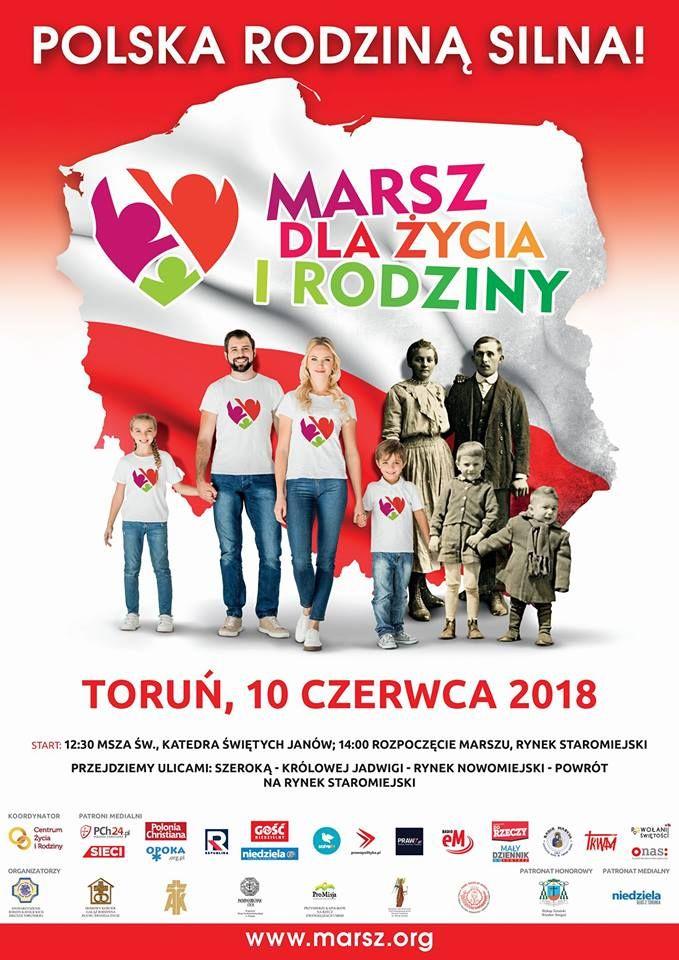 Marsz dla życia i rodziny w Toruniu.