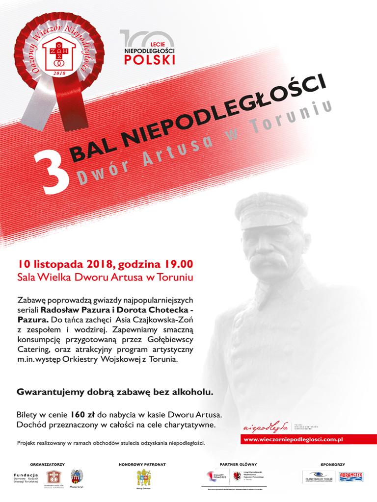 Zapraszamy na 3 Bal Niepodległości
