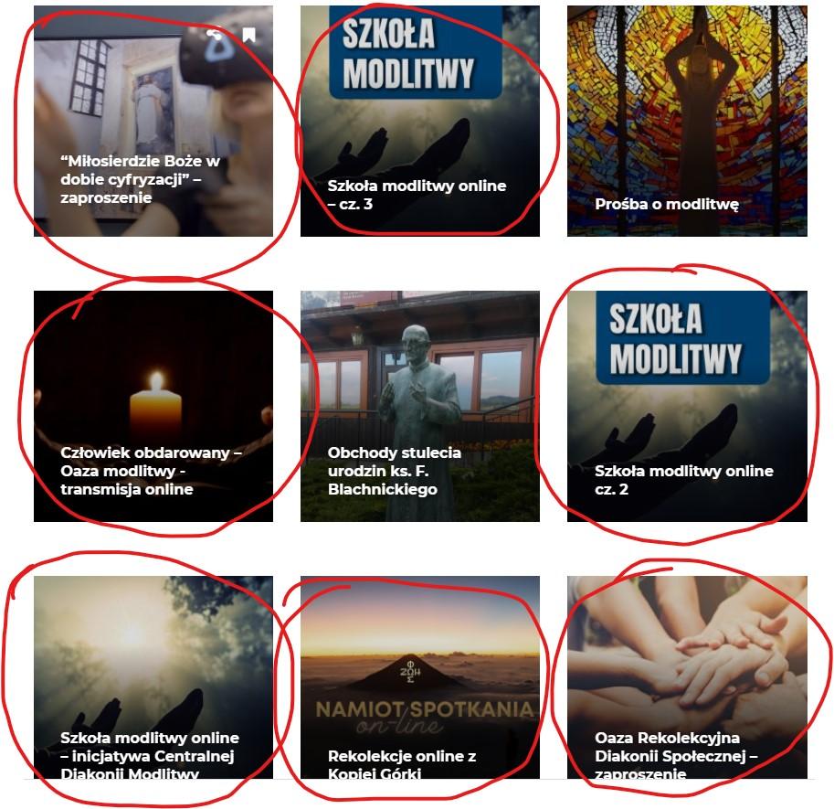 Rekolekcja online organizowane przez Ruch Światło Życie