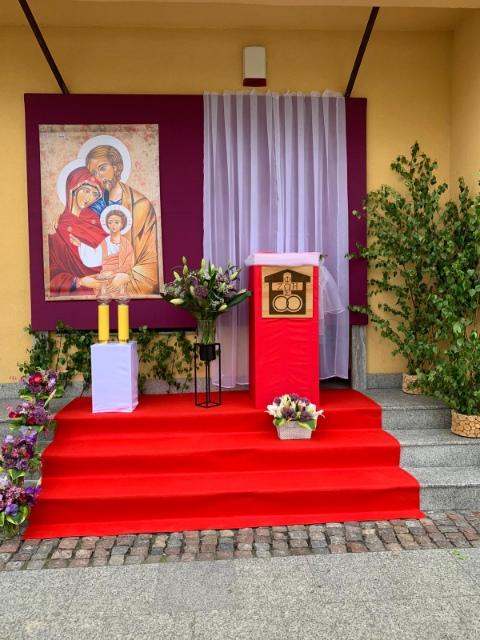 Ołtarze na Boże Ciało przygotowane przez kręgi Domowego Kościoła Brodnicy